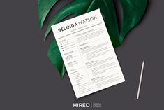 Resume Layout + Cover letter format by HIRED Design Studio on Cover Letter Format, Cover Letter Template, Letter Templates, Cover Letters, Resume Layout, Resume Cv, Resume Writing, First Resume, Administrative Assistant Resume