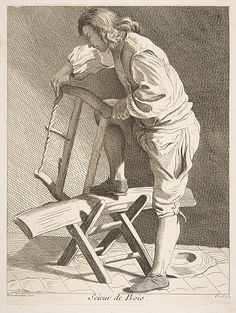 Drawing - Wood Cutter by Anne Claude de Caylus , Wood Cutter, Catalogue Raisonne, 18th Century Costume, Canadian History, Black And White Drawing, Claude, Classic Image, Heritage Image, Poster Size Prints