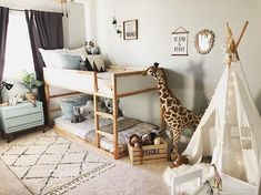 Safari bedroom for kids/ kura bed. Shop this room 👇🏼. - Safari bedroom for kids/ kura bed. Shop this room 👇🏼. Safari Bedroom, Baby Bedroom, Nursery Room, Nursery Decor, Boy And Girl Shared Bedroom, Safari Room Decor, Decor Room, Boys Shared Bedroom Ideas, Bunk Bed Ideas For Small Rooms