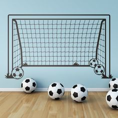 Kinderzimmer Wandtattoo: Fussballtor 0