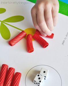 Preschool Math Activity: Flower Dice Game Printable