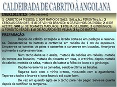 RECEITAS - PRATOS TRADICIONAIS ANGOLANOS