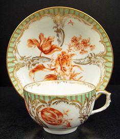 Antique Berlin Tea Cup & Saucer