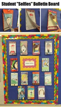 """All about me selfie drawing and writing for the perfect back to school activity! Have your students draw """"selfies"""" and describe their summer via text message prompts. Makes for a great bulletin board display! Fun, contemporary back-to-school activity your students won't soon forget. Spanish and French variations included."""