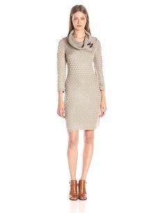 Calvin Klein Women's Cable Knit Sweater Dress