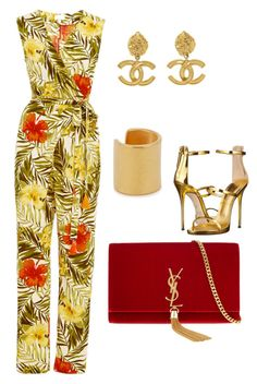 Untitled #7 by styledbytammy on Polyvore featuring polyvore, fashion, style, Miguelina, Giuseppe Zanotti, Yves Saint Laurent, Maya Magal, Chanel and clothing