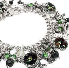 Wizard of OZ Charm Bracelet Wizard of OZ Jewelry Glinda Jewelry