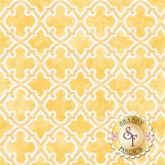 "Flower Girl 8053-33 By Margot Languedoc For Henry Glass: Flower Girl is a collection by Margot Languedoc of The Pattern Basket For Henry Glass. This fabric features a yellow lattice design. Width: 43""/44""Material: 100% CottonSwatch Size: 6"" x 6"""