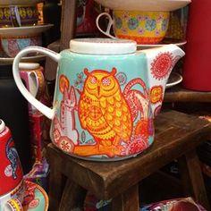 Owl Teapot by t2tea  Pinned by www.myowlbarn.com