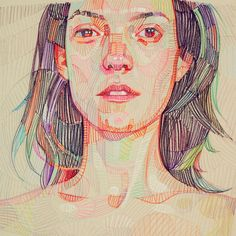 Denver-based artist Lui Ferreyra (previously) has spent the last decade honing a technique that portrays faces, hands, and landscapes as dense fields of geometric color. While evoking a tone that clearly references the digital age, Ferreyra also draws inspiration from artists like Chuck Close and Eg