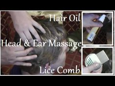 ASMR Indian Head and Ear Oil Massage + Lice Check (Soft Spoken) - YouTube