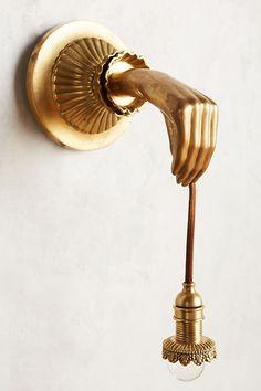Lightbearer Sconce by Anthropologie in Gold, Lighting - design - Art Decoration Interior Modern, Home Interior, Interior And Exterior, Interior Decorating, Interior Design, Art Deco Interior Bedroom, Interior Styling, Design Hotel, Home Design