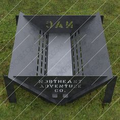 Custom Order - Modern Fire Pit With Decorative Logo and Text on Sides, USD Custom Orders, Exclusive Designs and more from the website Metal Projects, Welding Projects, Tribal Wings, Metal Fire Pit, Fire Pits, Bbq Pit Smoker, Fire Pit Party, Modern Fire Pit, Fire Pit Designs