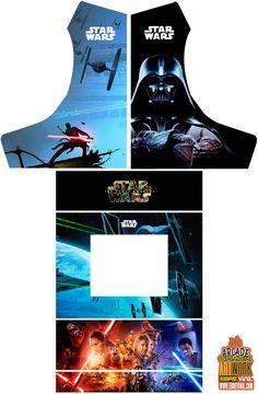 artes bartop con dibujos y diseño de star wars - la guerra de las galaxias
