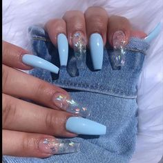 Best Nails Ideas for Spring 2019 If you are searching for cute nail colors for spring and beautiful spring nail designs then check our Stylish nails especially Floral nails and butterfly nails. Clear Acrylic Nails, Wedding Acrylic Nails, Summer Acrylic Nails, Wedding Nails, Summer Nails, Long Nail Designs, Acrylic Nail Designs, Art Designs, Design Art