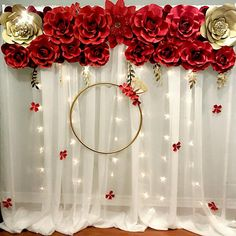 Best 12 Praise the Lord! New backdrop! Everyday we live is a celebration. Let's celebrate Life celebrate Love with our Red roses backdrop! Quince Decorations, Quinceanera Decorations, Wedding Stage Decorations, Engagement Decorations, Backdrop Decorations, Diy Party Decorations, Backdrops, Baptism Decorations, Desi Wedding Decor