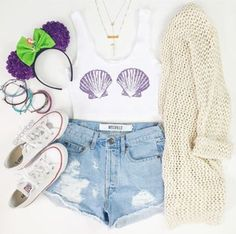 f633bce03428  Cute  fashion Chic Outfit Trends Mermaid Shoes, Mermaid Style, Cute Disney  Outfits