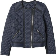 Rebecca Taylor Quilted Puffer Moto Jacket (2,940 MXN) ❤ liked on Polyvore featuring outerwear, jackets, coats, nautico, motorcycle jacket, slim jacket, puff jacket, biker jacket and quilted jacket