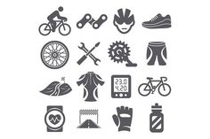 Biking icons. Clothes Icons. $5.00