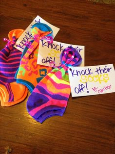 """For Dance Competitions - """"Knock their Socks Off"""" gifts.  Hire Lai Rupe's Choreography for Competition dance routines, receive professional, 1st place choreography, and gifts for your dancers!  www.LaiRupe.com"""