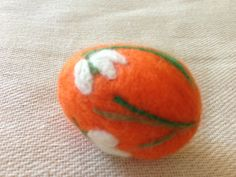 Unique-Needle-felting-egg-Easter-egg-Lilies-of-the-valley-OOAK
