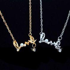 Silberkette oder Goldkette Love Liebe Herz Silber oder Gold NEU (3498)Willkommen im  www.Chelsea-Fashion-Glamur.de  Shop Secondhand und Neuware Mode zu günstigen Preisen   Dies und Das für jeden was.....