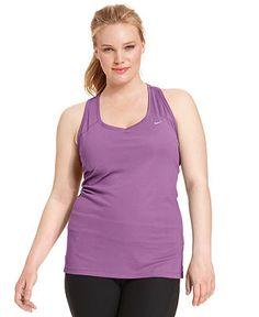 Nike Plus Size Miler Dri-FIT Racerback Tank Top - Plus Size Activewear - Plus Sizes - Macy's