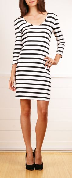 Torn by Ronny Kobo Stripe Dress