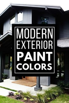 Must see modern exterior paint color combinations that work so well together! Paint your home's exterior with confidence after being inspired by these great modern color schemes. Best House Colors Exterior, Exterior Paint Color Combinations, Best Exterior Paint, Modern Color Schemes, Exterior Paint Colors, Modern Colors, Modern Exterior, Good House, Confidence