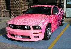 awesome Pink Ford Mustang ☆ Girly Cars for Female Drivers! Love Pink Cars ♥ It's the...  Cars