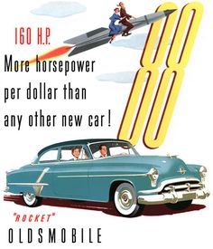 1952 Oldsmobile Super 88  This was the car my mother had from 1951 to 1969, when it became mine. Loved it!