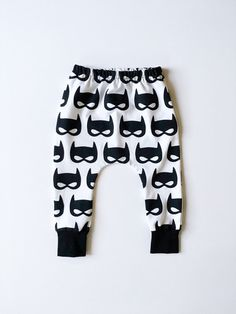 These baby pants are the bee's knees!   Baby Boy Batman Harem Pants Toddler Superhero Leggings by HipMingo