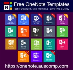 Medley of free MS OneNote templates. Get Things Done, KanBan Task Board, Intranet in a Box, D… – IT and software – notes One Note Microsoft, Microsoft Office, Microsoft Windows, One Note Tips, Lifehacks, Onenote Template, Vacation Checklist, Technology Hacks, Study Planner