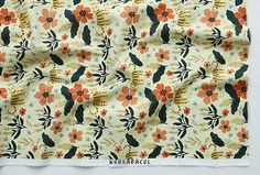 Blossom fabric Flower pattern 44x35 100% Soft Scandinavian Fabric, Flower Patterns, Fabric Flowers, Prints, Flower Doodles, Cloth Flowers, Floral Patterns, Printmaking