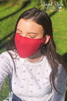 This contoured mask provides nose-to-chin coverage and is washable for reusable convenience. They feature adjustable ear straps, pinch-able nose wire and a filter pocket.⁠ These are non-medical and intended as a face covering in settings when social distancing is difficult to maintain. Lots more colours and prints available. QLD, Australia #facemask #mask #cottonfacemask #reusablefacemask #adultmask #adultfacemask #reusablefacemasks #cottonmasks #plainfacemasks #redmask #redfacemask #plain