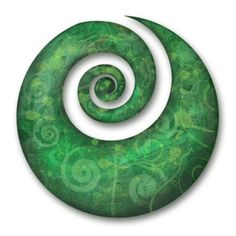 The spiral shaped Maori koru is derived from an unfolding silver fern frond. The circular movements towards an inner coil refers to 'going back to the beginning'. The unfurling frond itself is symbolic of new life; Koru Tattoo, Maori Tattoos, Marquesan Tattoos, Tattoo Symbols, Polynesian Tattoos, New Zealand Tattoo, New Zealand Art, New Zealand Symbols, Tattoos