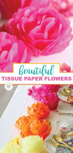 Tissue paper flowers are an easy and cheap way to decorate for a party. Add some color to your next event, or brighten up a room for the summer. Anyway you want to use them, this will be a fun craft that you can make time and time again. Beautiful tissue paper flowers are an easy way to add color to your life. #tissuepaperflowers #diy #homemade #partydecor #decorate #kid #craft #smartschoolhouse