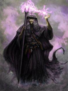 Raistlin Majere in Black Robes by MichaelThom.deviantart.com on @deviantART