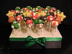 super mario cake pops for treyson's bd