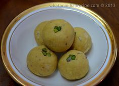 This homemade sweet is tasty & healthy, prepared with ghee, almonds, pistachios, etc. it's a part for homemade Indian desserts. Ingredients for Besan and Sooji Ladoo Recipe Besan/ Gram flour - ...