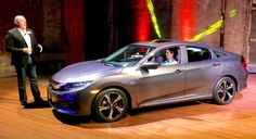 Honda has taken the cover off its new Civic, sporting more aggressive looks, interior refinement and a dash full of apps.