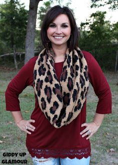 Dainty Details Tunic with Crochet Trim in Maroon - $28.95 - www.gugonline.com