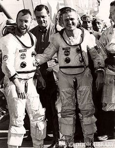 Astronauts Borman and Lovell after Gemini 7