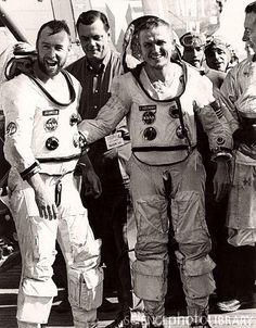 Astronauts Borman and Lovell after Gemini 7