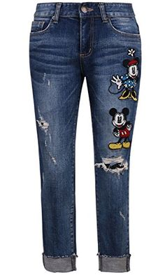 Disney Mickey Mouse Vintage Distressed Washed Cotton Stretchy Cuffed Jeans Pants (pants-324-1-M) Disney http://www.amazon.com/dp/B017750VN6/ref=cm_sw_r_pi_dp_8Nr1wb1GS7STA