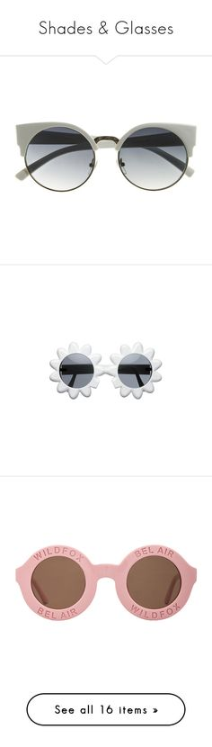 """Shades & Glasses"" by shanplusthetice ❤ liked on Polyvore featuring accessories, eyewear, sunglasses, glasses, round circle glasses, half frame glasses, round sunglasses, round glasses, cateye sunglasses and folding glasses"