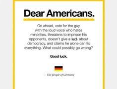 A mensagem do povo alemão aos americanos que viralizou na web