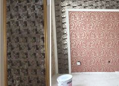 crystal glass tile metal coating designs glass mosaic backsplash GSB03 kitchen wall tiles