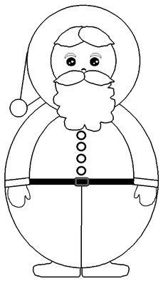 CHRISTMAS SANTA COLORING PAGE