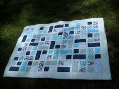 Hidden Pond Baby Crib Quilt Play Quilt or Throw by Somewhen, $115.00